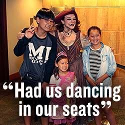 """Had us dancing in our seats"""
