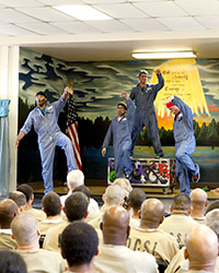 Othello: The Remix performing at Cook County Department of Corrections