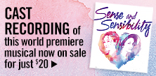 Cast Recording of Sense and Sensibility on sale - Just $20